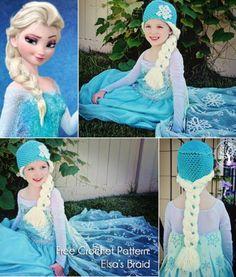 Crochet Elsa braids Hats - Sammy Needs This!!!
