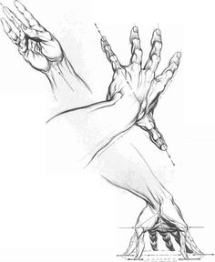 Drawings Hands Squeme