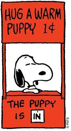 """Happiness is a warm puppy."" -  Charles M. Schulz - Puppy hugs make a bad day so much better, Happy National Puppy Day!"