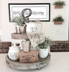 Tiered trays available at KSD. Love how this one is styled.