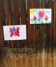 Summertime Finger Painting Ideas on www.girllovesglam.com