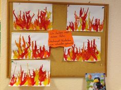 basteln zum thema feuer im kindergarten – Kindergeburtstag ideen tinker on the topic of fire in kindergarten Fire Safety Crafts, Fire Safety Week, Fall Crafts For Toddlers, Toddler Crafts, Kindergarten Activities, Preschool Activities, Fire Truck Craft, Firefighter Crafts, Truck Crafts