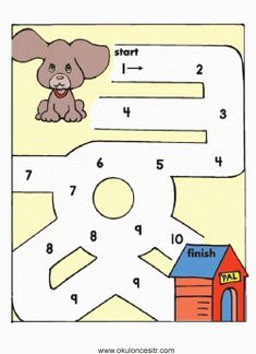 Köpek Labirent Bulmaca Sayfası | OkulöncesiTR Preschool Kindergarten