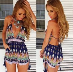 Find More Jumpsuits & Rompers Information about 2015 New Arrival Women Causal Jumpsuits Sexy Deep V neck Playsuit Beach Rompers Fashion Hot shorts Pants Tassel Romper Wholesale,High Quality pants military,China pants women Suppliers, Cheap romper ruffle from Party Girls on Aliexpress.com