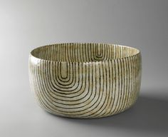 gertrud vasegaard's stoneware bowls and vases are beautifully decorated with warm colors — ochres, umbers, grays, blues and sage — and with subtle abstract patterns & Ceramic Decor, Ceramic Clay, Ceramic Bowls, Ceramic Pottery, Slab Pottery, Modern Ceramics, Contemporary Ceramics, Earthenware, Stoneware