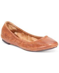 a9b8ce37a7f618 Lucky Brand Emmie Flats - Tan Beige 11W Brown Flats