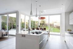 Contemporary Collection   www.dillonskitchens.ie New Kitchen, Kitchen Ideas, White Gloss Kitchen, Quartz Countertops, Kitchen Styling, Modern Design, Kitchens, Banner, Contemporary