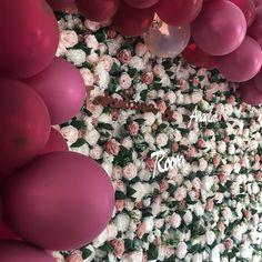 Enchanted Garden - Blomstervegg - Blomstervegg til bryllup, selskap og events Wedding Decorations, Wedding Inspiration, Invitations, Rose, Party, Beautiful, Pink, Wedding Decor, Parties