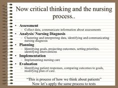 nursing process and critical thinking nclex questions