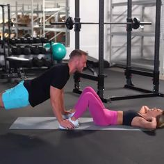 Plange rise are a variation of basic rise that involve bringing the elbows closer to the body when carrying out the exercise. Learn how to do Plange rise with this exercise video. Workout Memes, Workout Videos, Gym Workouts, At Home Workouts, Couple Workout Together, Gym Couple, Sport Fitness, Fitness Tips, Fitness Motivation