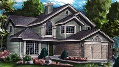 New American House Plan with 2153 Square Feet and 4 Bedrooms from Dream Home Source | House Plan Code DHSW26953