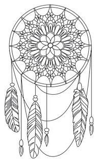 Dream a Little Dream Urban Threads Unique and Awesome Embroidery Designs Doodle Drawing, Mandalas Drawing, Doodle Art, Zentangles, Dream Catcher Clipart, Embroidery Patterns, Hand Embroidery, Urban Threads, Coloring Book Pages