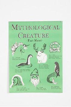 Mythological Creatures Poster