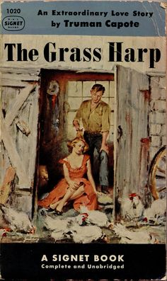 1953; The Grass Harp by Truman Capote. Cover art by Stanley Zuckerberg.