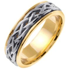 14K Two Tone Gold Celtic Infinity Knot Men's Wedding Band (6.5mm) Size-10 From Wedding Rings Depot List Price:$1,581.99 Price:$723.99 http://jewels411.com EZ