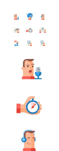 Icon set for LinguaLeo, Icons © AlexeyKuvaldin