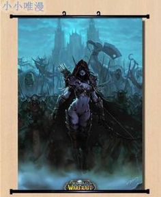 World of Warcraft WOW Sylvanas Windrunner Home Decor Poster Wall Scroll GO276