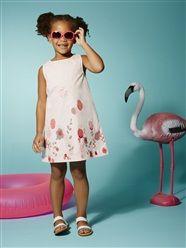 Popeline-Kleid für Mädchen