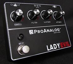 Brand new from ProAnalog Device in IL, we proudly present the Lady Evil!Another unique and stunning creation from the fuzz-genius mind of Scotty. This fuzz pedal encompasses a wide variety of classic tones, all while being able to maintain a modern touch and edge that allows the Lady Evil's tone to be used across a myriad of different styles of music. From blues to classic rock to doom metal.The Lady Evil covers a large spectrum of fuzz tones. From hyper-compressed and fizzy to full-bodied,