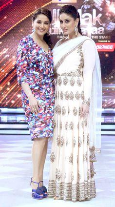 Loved Kareena's Anarkali. Kareena Kapoor Khan with Madhuri Dixit