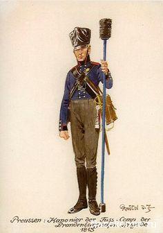PRUSSIA - Artigliere della Compagnia Cannonieri a piedi della Brigata Brandeburghese, 1813