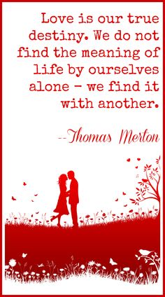 Discover and share Love Is Our True Destiny Thomas Merton Quotes. Explore our collection of motivational and famous quotes by authors you know and love. Cute Quotes, Great Quotes, Words Quotes, Inspirational Quotes, Sayings, Thomas Merton Quotes, Love My Husband, My Love, Mindfulness Quotes