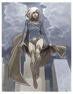 Supergirl Barcelona 2016 by Mahmud Asrar Comics Anime, Comic Manga, Dc Comics Art, Comics Girls, Comic Book Artists, Comic Artist, Comic Books Art, Power Rangers, Comic Character