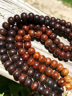 8mm Round Bone Beads, Handcrafted Caramel Mocha Coffee Browns Color, Native…