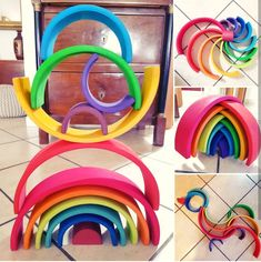 Rainbow Activities, Infant Activities, Projects For Kids, Art Projects, Grimm's Toys, Grimms Rainbow, Rainbow Invitations, Baby Playroom, Eco Kids