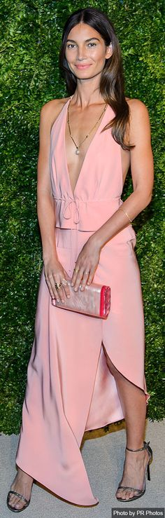 Lily Aldridge in Juan Carlos Obando - 2014 CFDA/Vogue Fashion Fund Awards - 11/03/2014 - Spring 2015 Dress