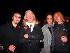 Tony Iommi : Biff Byford  : Me : and our lovely Joe Elliott. We love you Tony!!