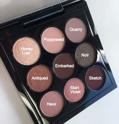 MAC Burgundy Times Nine Eyeshadow Palette Shades MAC Burgund mal neun Lidschatten-Palettenfarb Mac Cosmetics Eyeshadow, Shimmer Eyeshadow Palette, Best Eyeshadow, Eyeshadow Makeup, Best Mac Eyeshadows, Mac Eyeshadow Tutorials, Mac Eyeshadow Looks, Mac Eyeshadow Swatches, Drugstore Eyeshadow
