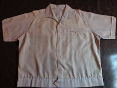 1960's Vintage  shirt.  Blue stripe. by vintagewayoflife on Etsy, $20.00