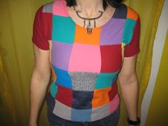 Refashion Co-op: A Cool and Colourful T-shirt from t-shirt scraps