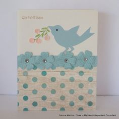 CTMH Seaside and Blossom Get Well Card