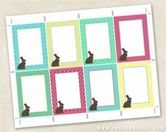 Happy easter tags printable easter tag editable template diy editable bunny tags printable bunny gift tags chocolate bunny tags to edit yourself 25x35 atc diy digital pdf rabbit tag template negle Image collections