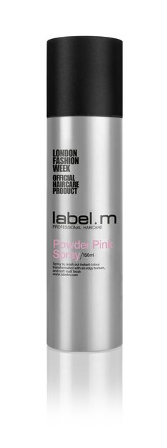 label.m Powder Pink Spray. Winner of Pure Beauty Awards 2014, label.m Powder Spray Collection is a fast drying spray for instant colour. Create on-trend styles from ombré to dramatic highlights - transform your look without commitment! *Style Tips: Shake and spray evenly 20cm away from hair. Leave to dry for 2 minutes before brushing out for a lighter effect or layer on more for an intense colour.  For a pastel effect, finish the look with Dry Shampoo or for a glossy shine finish use Shine…