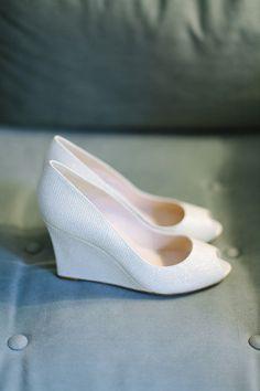 Best Wedding Shoes 2014 New White Wedges Dress Fashion Lady Party Prom Comfort Lace Rhinestone Bridal Elegant Pumps Gina