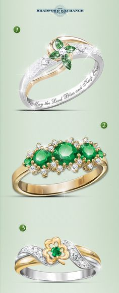 Experience the beauty of Ireland this St. Patrick's Day with our emerald rings. Which one is your favorite?