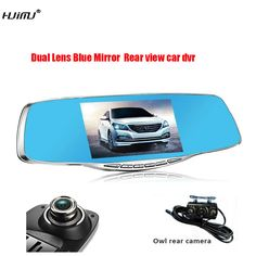 FHD 1080P G-Sensor Motion Dection car video recorder dvr parking Metal frame 4.3 inch Dual Camera lens Review Mirror Car DVRS