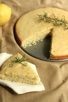 Rosemary Buttermilk Tea Cake