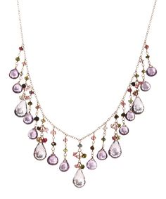Look at this Tourmaline & Amethyst Drape Bib Necklace on #zulily today!