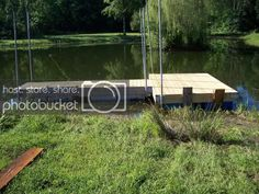 Esshups floating dock | Property Projects & Construction | Pond Boss Forum Kubota Tractors, Floating Dock, Pond, Construction, Building, Water, Projects, Gripe Water, Log Projects