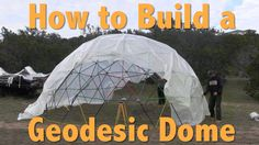 How to Build a Geodesic Dome   This project makes a super DIY greenhouse or extra storage space Video tutorial link: http://youtu.be/Rg7rizOa1yg