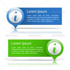 Information Banners #GraphicRiver Banners with information symbol and place for your text, vector EPS10 illustration. Fonts used: Arial, QumpellkaNo12, .dafont /qumpellkano12.font Created: 4 December 13 Graphics Files Included: Transparent PNG #JPG Image #Vector EPS Layered: No Minimum Adobe CS Version: CS Tags banner #blank #block #blue #board #box #business #button #color #concept #frame #green #guide #icon #info #infographics #information #map #marker #number #pin #pointer #sign #tag…