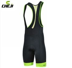 CHEJI Bicycle Bib Short CHEJI Men Outdoor Wear Bike Bicycle Cycling 3D Padded Riding Bib Shorts S-3XL 3Colors Cycling Bib Shorts