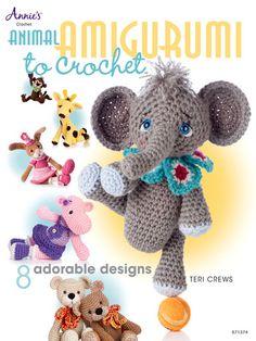 Make adorable crochet stuffed animals with  Animal Amigurumi to Crochet  by Teri Crews!
