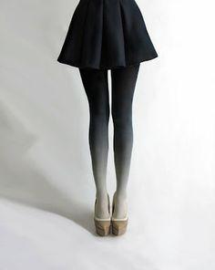 ombre, tights, clothes, fashion, black