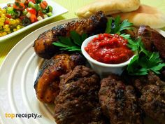 Mix grill s ostrou omackou - www. Mixed Grill, Tandoori Chicken, Grilling, Beef, Ethnic Recipes, Food, Meat, Eten, Ox