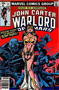 John Carter Warlord of Mars #11 - Cover by Dave Cockrum